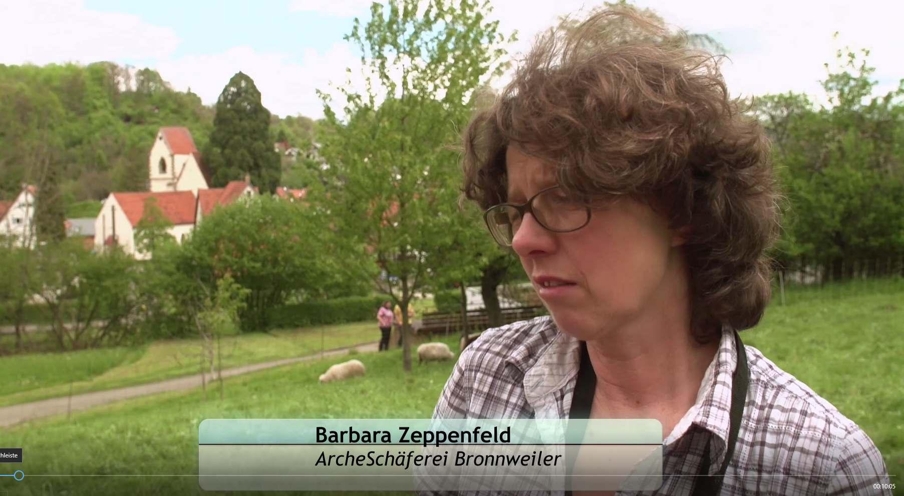 Screenshot aus dem Video: Barabara Zeppenfeld - Archeschäferei